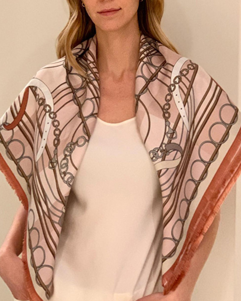 DOUBLE SILK SCARF: PINK