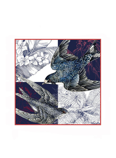SPARROW PRINTED SILK SCARF