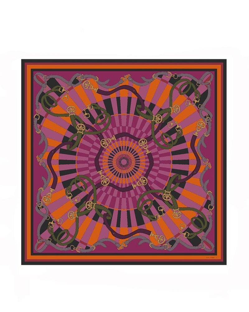 CASHMERE PRINTED SCARF: FIRENZE: BERRY