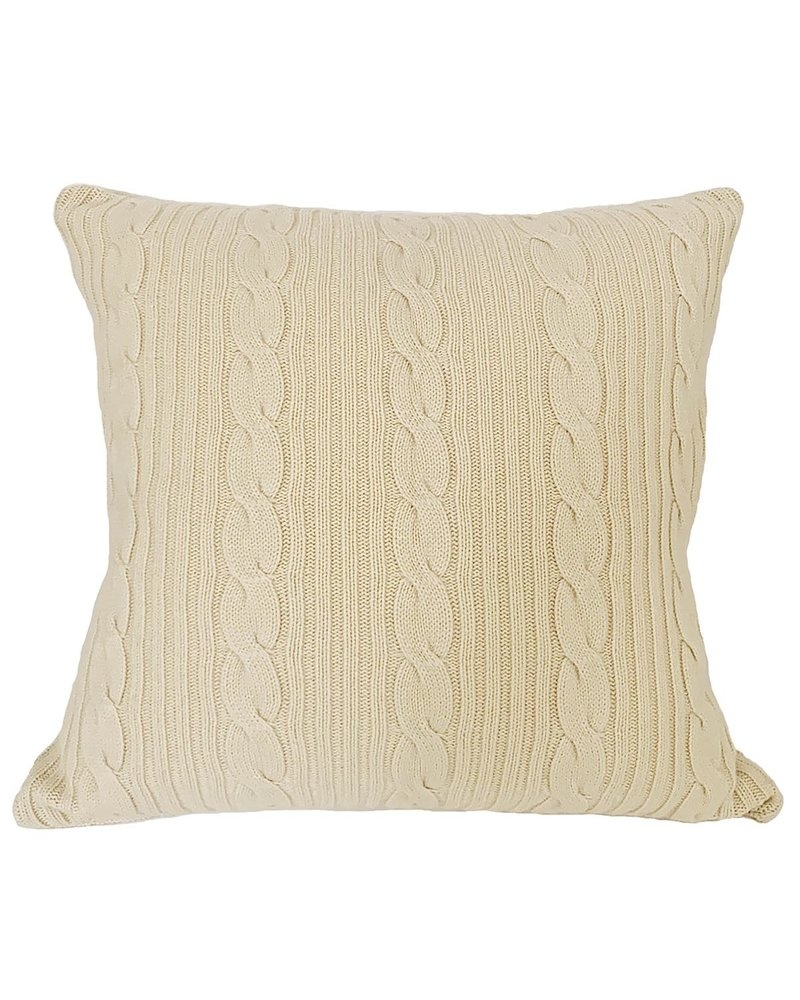 "ROMA CASHMERE PILLOW: 24"" X 24"": IVORY"