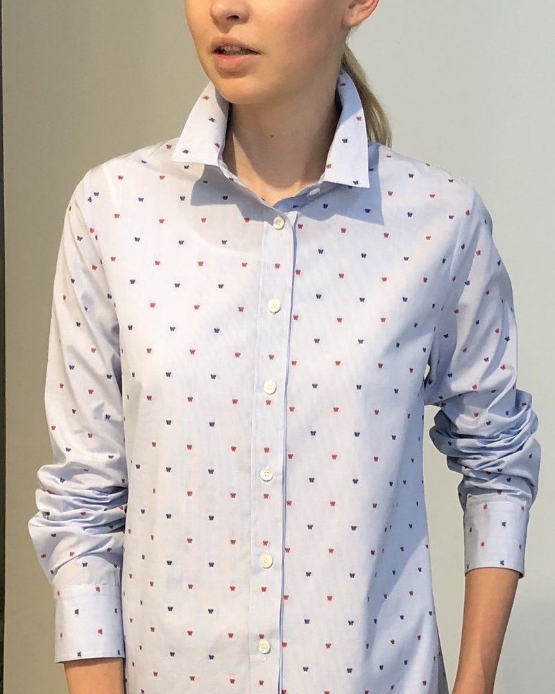 PRINTED COTTON SHIRT: BUTTERFLY