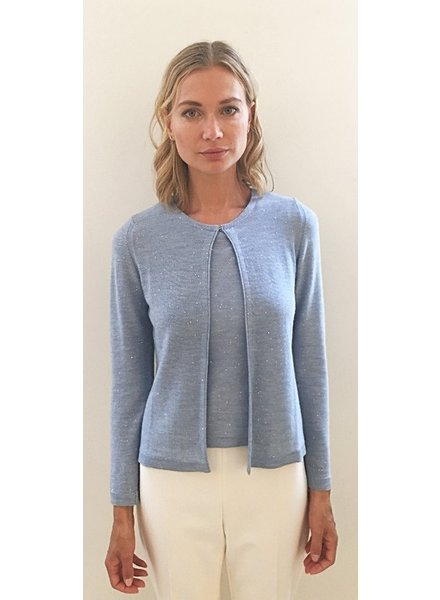 CASHMERE SILK TWINSET with Sequence