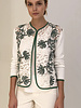 LACE OPEN CARDIGAN: IVORY-GREEN