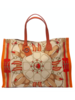 PRINTED SMALL BAG: STIRRUPS: ORANGE
