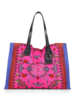 PRINTED SMALL BAG: CROWN: RASPBERRY