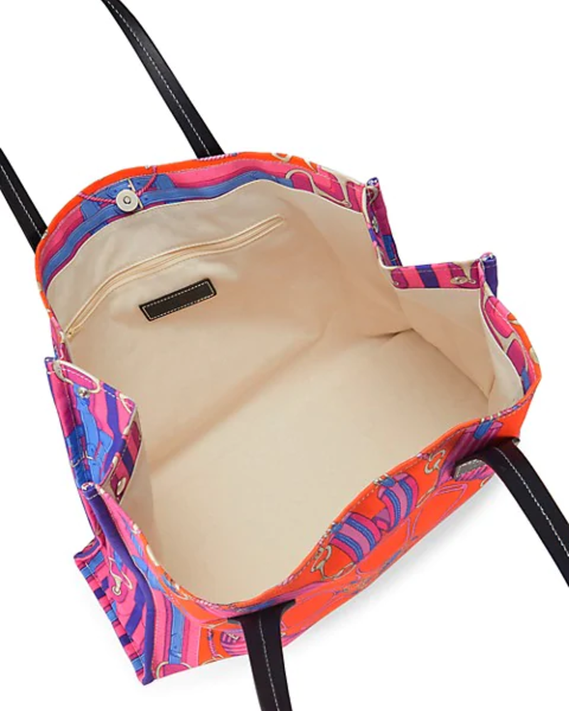 PRINTED SMALL BAG: STIRRUPS: TWILIGHTBLUE