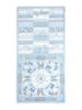 SILK SCARF PRINT REVERSIBLE TOP: LIGHT BLUE
