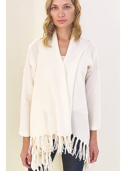 CASHMERE CARDIGAN WITH FRINGES