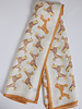 CASHMERE PRINTED SCARF: POODLES: GOLD