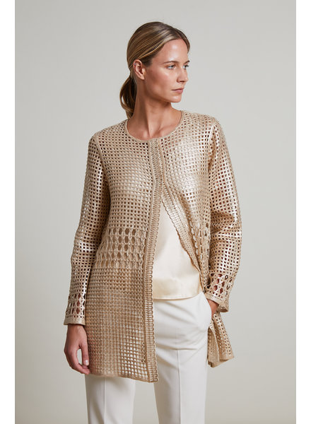 METALLIC COTTON LACE JACKET