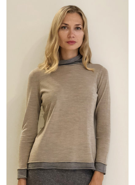 KNIT TWO-TONES SWEATER