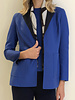 CASHMERE DOUBLE FACE REVERSIBLE JACKET: INK-NAVY