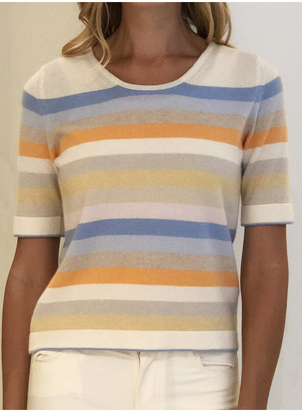 CASHMERE MIDDLE SLEEVES CREWNECK TOP
