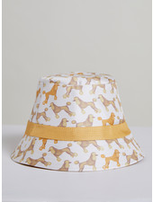 PRINTED SILK BUCKET HAT