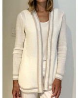 CASHMERE OPEN CARDIGAN WITH SEQUINS