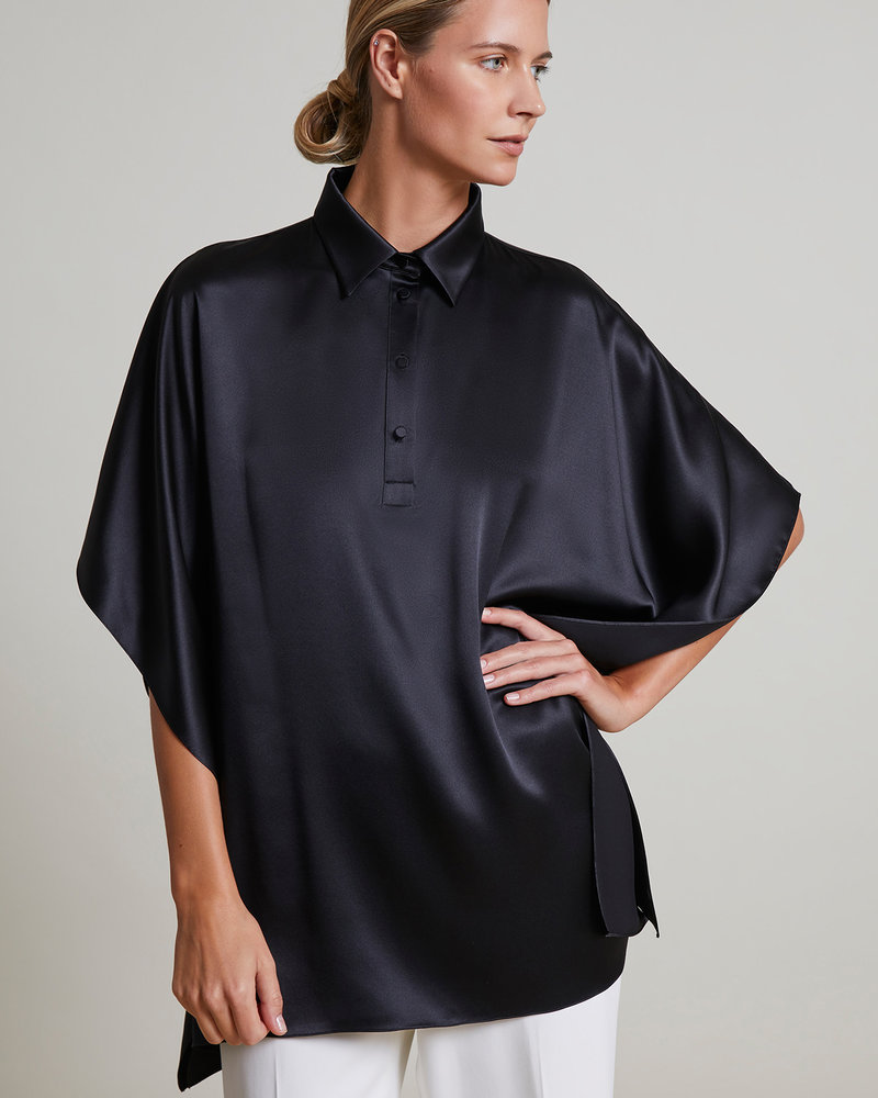 SILK TOP: BLACK