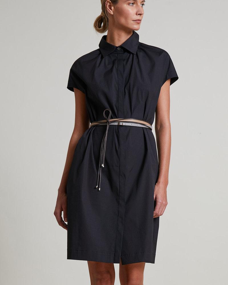 COTTON DRESS: BLACK
