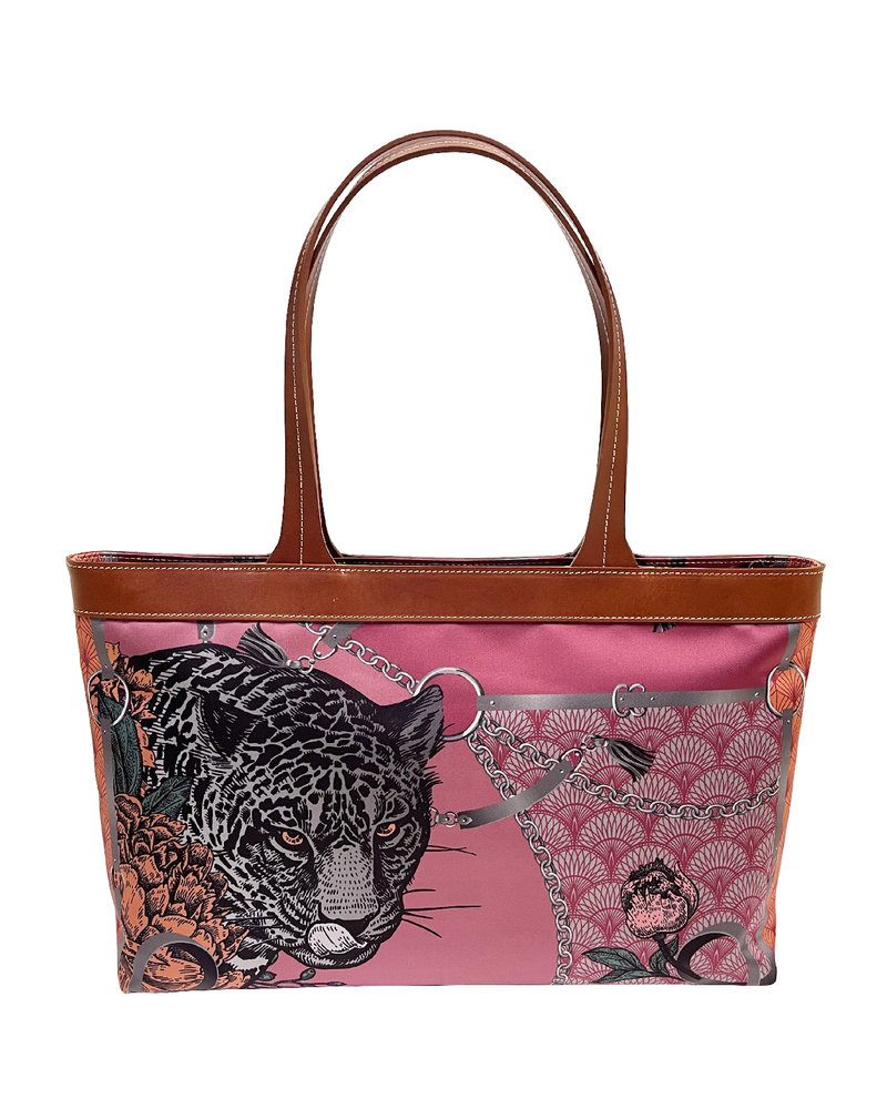 HANDBAG: LEOPARD: ROSE