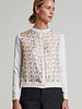 PRINTED SILK-COTTON KNIT CARDIGAN: POODLE: IVORY