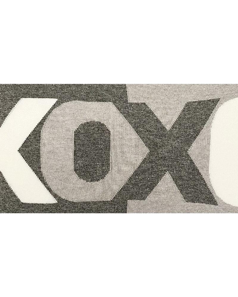 "XOXO PILLOW: 16"" X 24"": PEARL-IVORY"