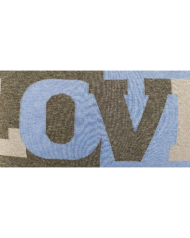 "LOVE PILLOW: CASHMERE: 16"" X 24"": DENIM"