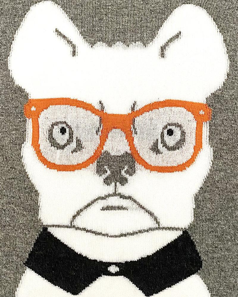 "CASHMERE DOG PILLOW: 21"" X 21"": ORANGE"
