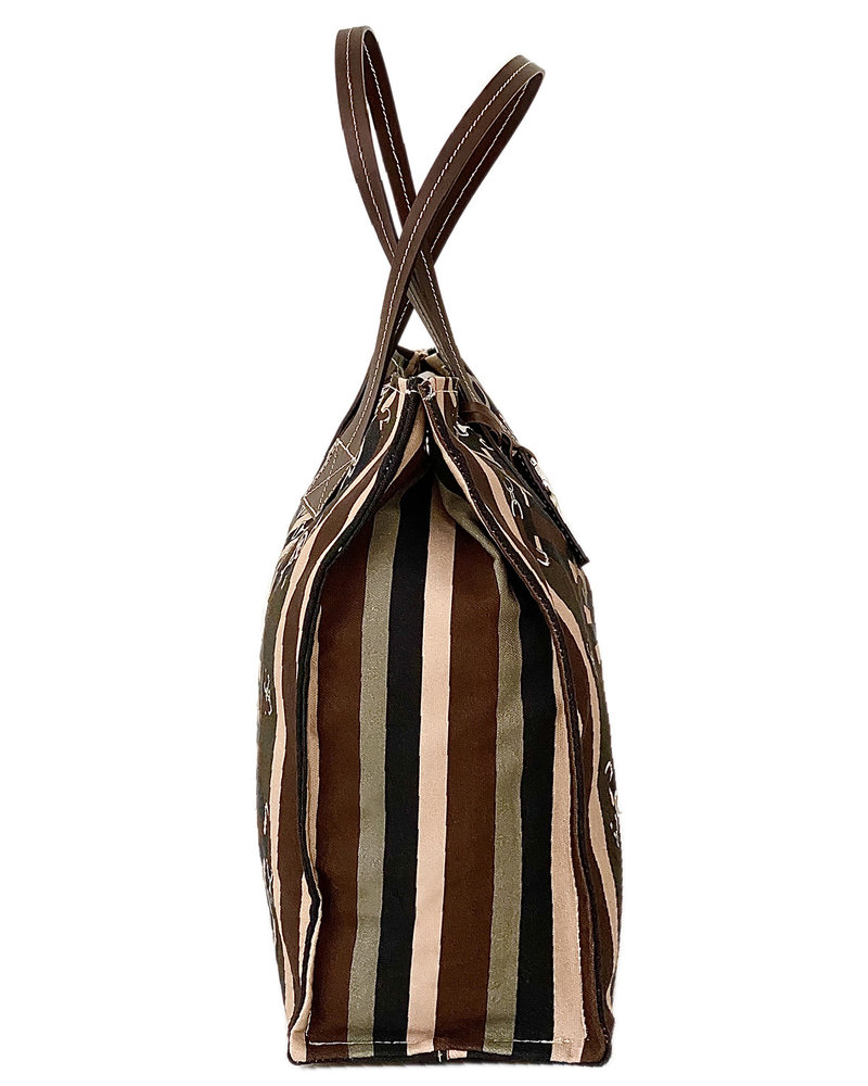 PRINTED SMALL BAG: FIRENZE: CHOCOLATE