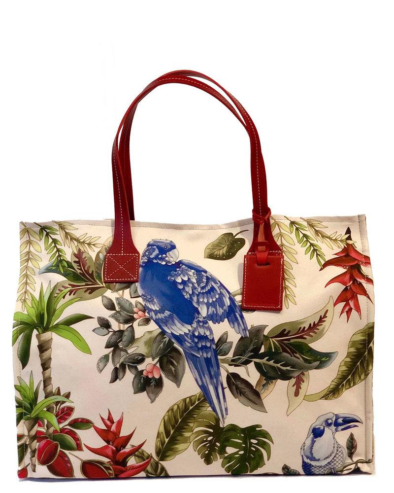 PRINTED SMALL BAG: BIRD: BLUE