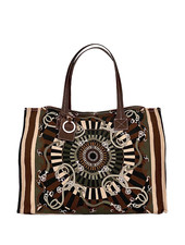 TOTE BAG SMALL: FIRENZE: CHOCOLATE