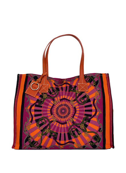 TOTE BAG SMALL: FIRENZE: BERRY
