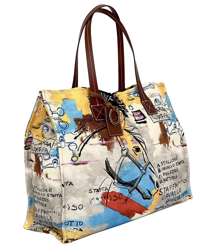PRINTED SMALL BAG: GRAPHIC: MULTICOLOR