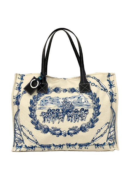 TOTE BAG SMALL: WOLF: INK