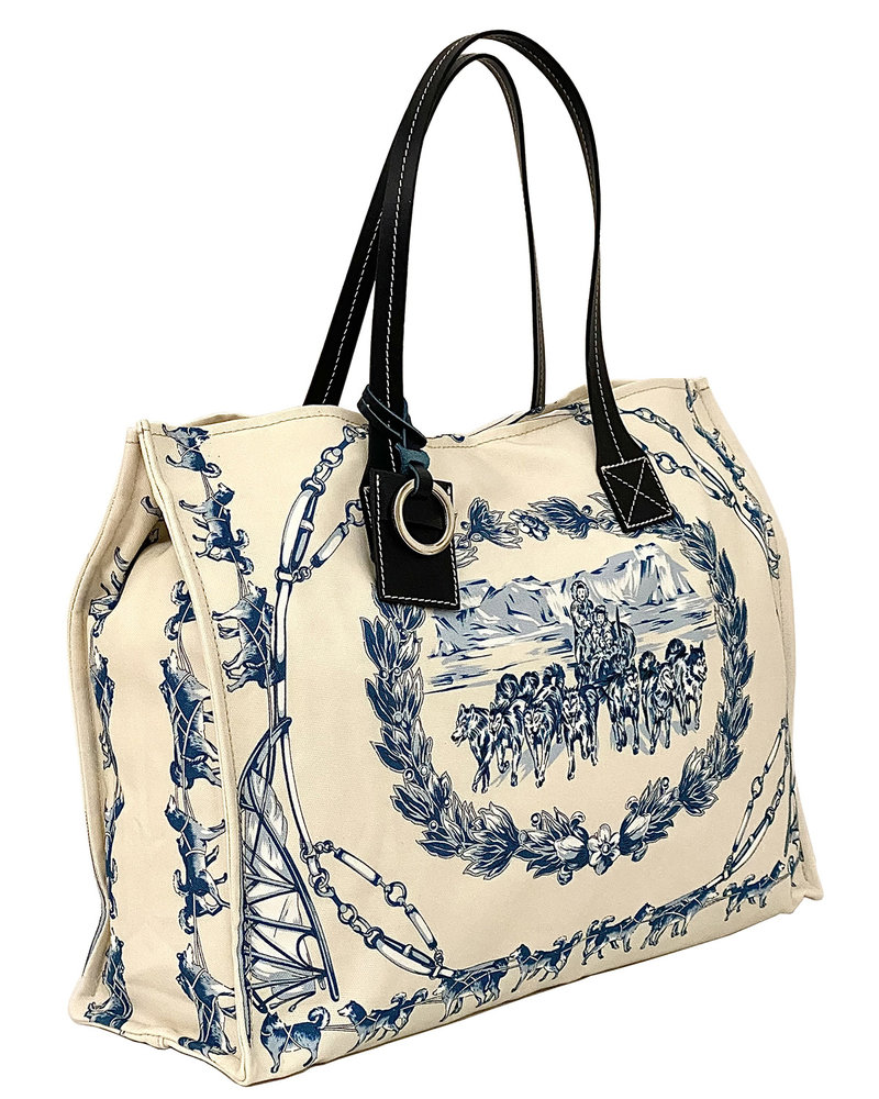 PRINTED SMALL BAG: WOLF: INK