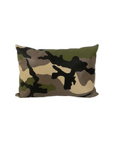 CAMOUFLAGE LEATHER PILLOW