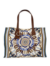 TOTE BAG SMALL: FIRENZE: BLUE
