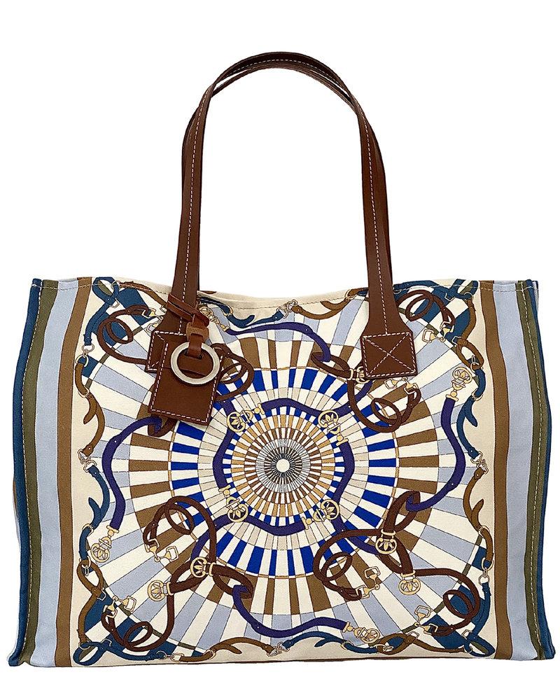 PRINTED SMALL BAG: FIRENZE: BLUE