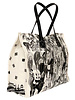 PRINTED SMALL BAG:  AFTER THE RACE: BLACK