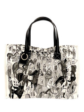 TOTE BAG SMALL: AFTER THE RACE: BLACK