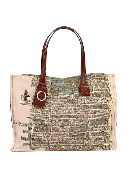 TOTE BAG SMALL: PALM BEACH: PINK