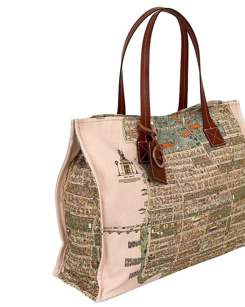 PRINTED SMALL BAG:  PALM BEACH: PINK