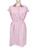 COTTON DRESS: PINK-WHITE STRIPES