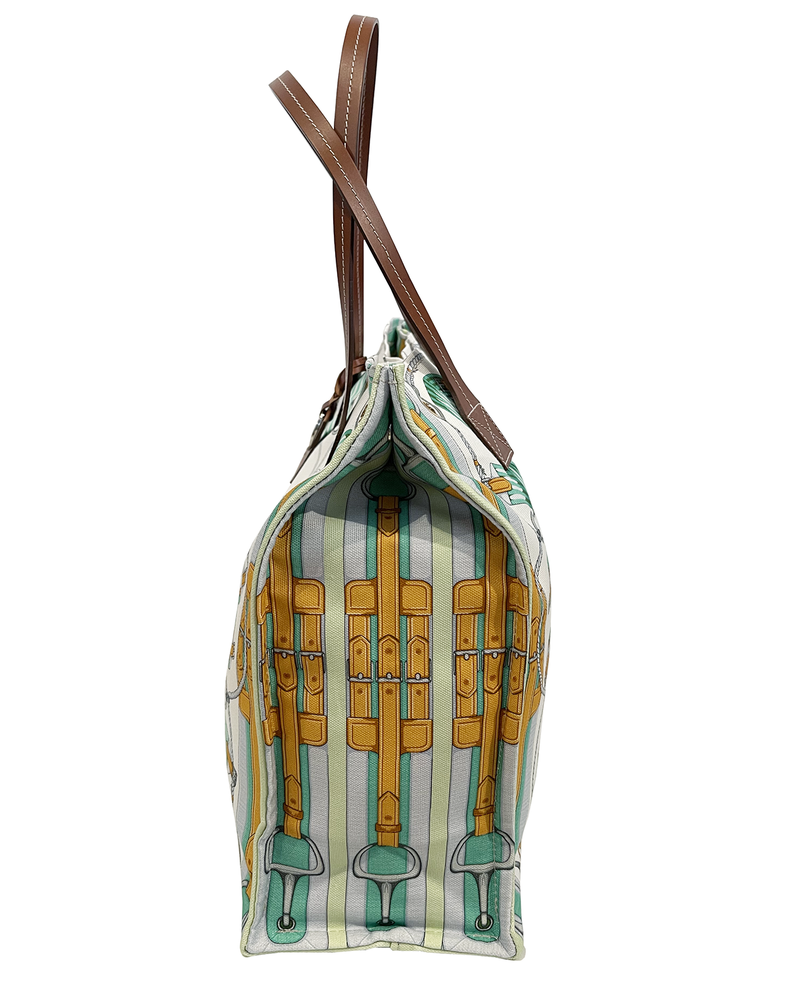 PRINTED SMALL BAG: STIRRUPS: GREEN FOREST