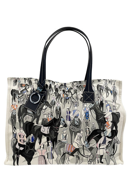 TOTE BAG SMALL: AFTER THE RACE: BLUE