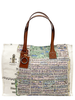 PRINTED SMALL BAG:  PALM BEACH: LILAC-GREEN