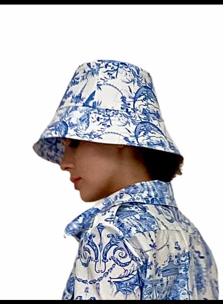PRINTED COTTONBUCKET HAT