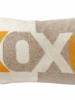"""XOXO PILLOW: 16"""" X 24"""":ORANGE"""