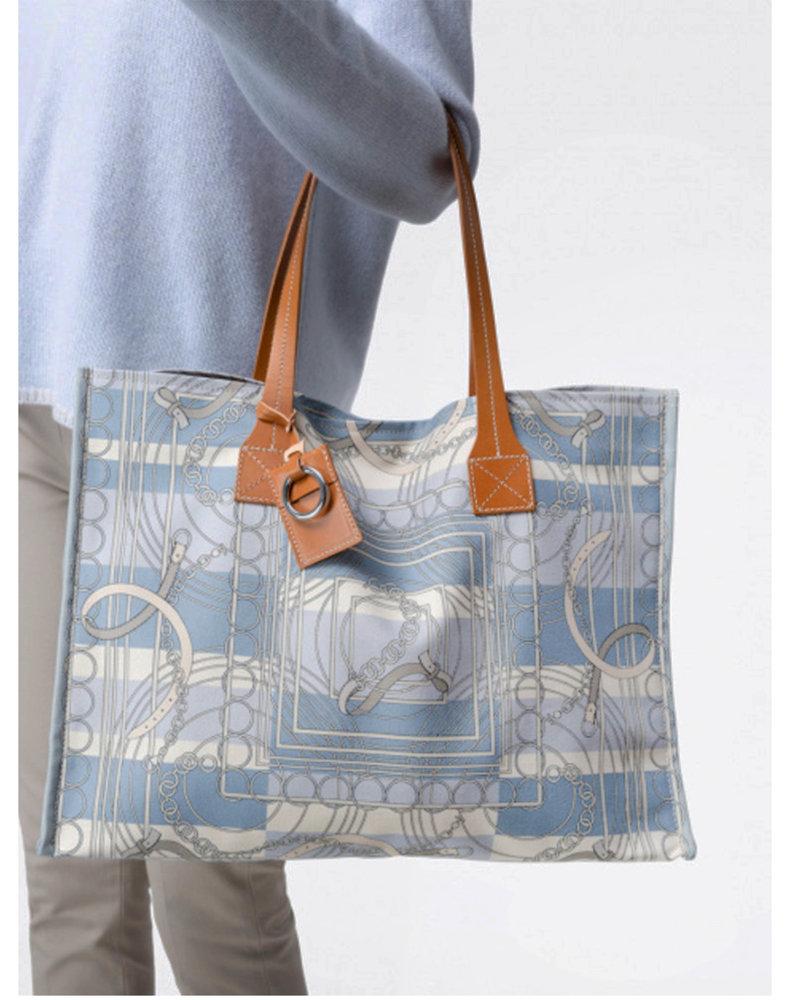 PRINTED SMALL BAG: VENEZIA: BLUE