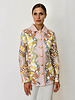 SILK PRINTED QUILTED JACKET: FIRENZE MELON