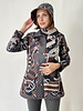 SILK PRINTED QUILTED JACKET: FIRENZE CHOCOLATE