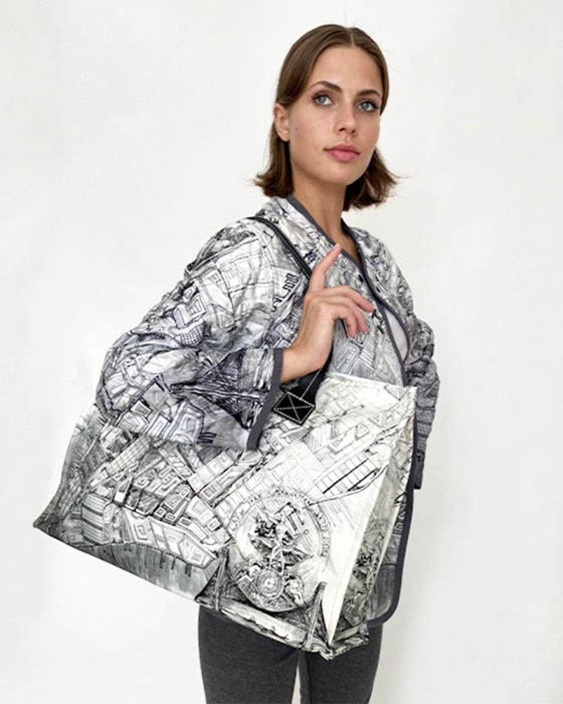 PRINTED SMALL BAG: NEW YORK: BLACK